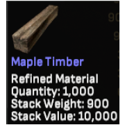 1000 Maple Timber