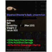slipshod shooter sash uncommon
