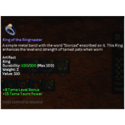ringmaster ring taming artifact