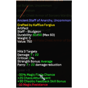 Ancient Staff of Anarchy (Uncommon)