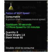 50 wolf speed potion