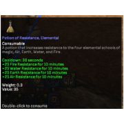 10 potion of resistance elemental