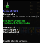 50 potion of might