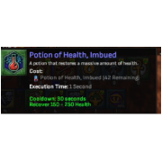 50 health potion imbued