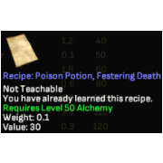 recipe of festering death potion