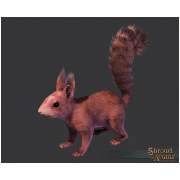 Red Squirrel Decoration Pet