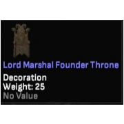 Lord Marshal Founder Throne