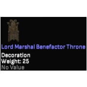 Lord Marshal Benefactor Throne