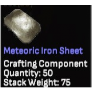 Meteoric Iron Sheet x50