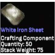 White Iron Sheet x50