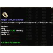 Ring of Earth, Uncommon