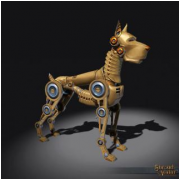 Brass Clockwork Dog Decoration Pet