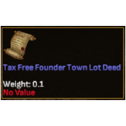 Tax Free Founder PA Town Lot Deed