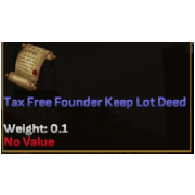 Tax Free Founder Keep Lot Deed