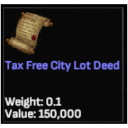 Tax Free City Lot Deed
