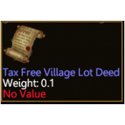 Tax Free PA Village Lot Deed