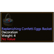 Replenishing Confetti Eggs Basket