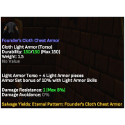 Founders Cloth Armour Set