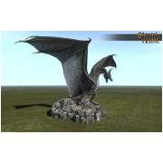 Stone Dragon Statue Keep Size