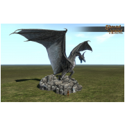 Stone Dragon Statue City Size