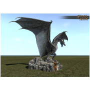 Stone Dragon Statue Village Size
