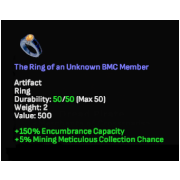 The Ring of an Unknown BMC Member, Uncommon