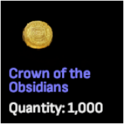 Gold Crowns of the Obsidian x 20