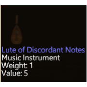 Lute of Discordant Notes